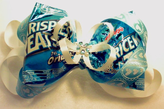 rice krispies wrapper hair bow