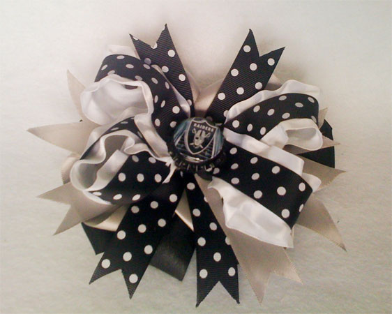 Oakland Raiders Hairbow