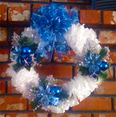 plastic trash bag wreath
